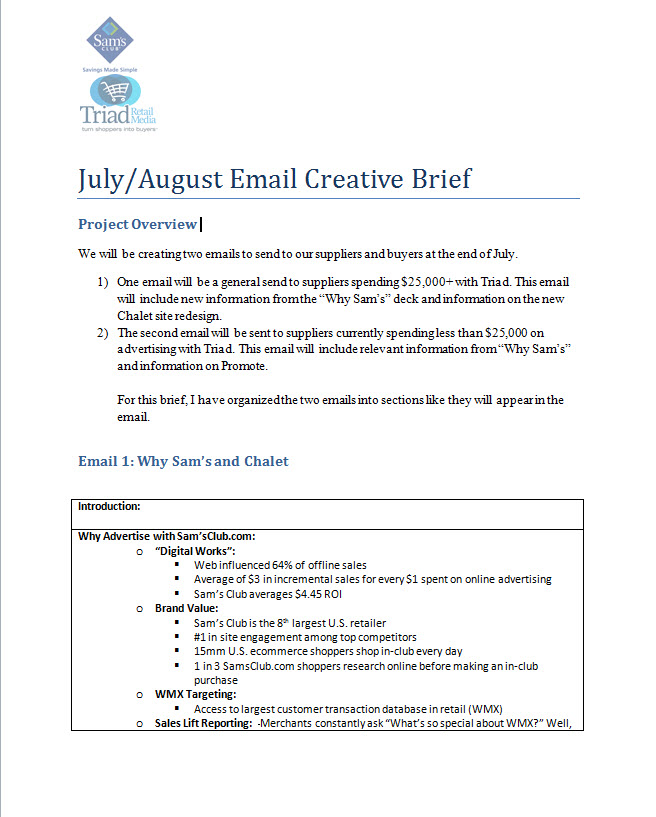 what is a creative brief in marketing